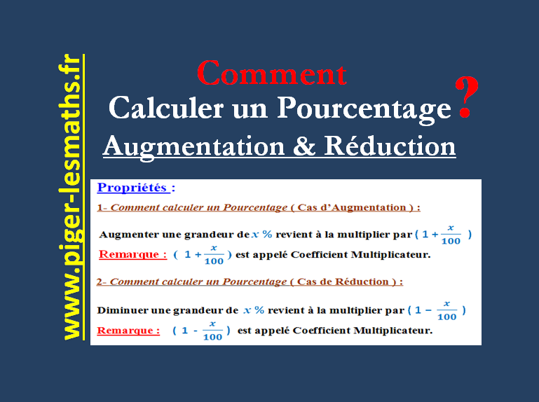 Comment Calculer Un Pourcentage D Augmentation Ou Reduction Piger