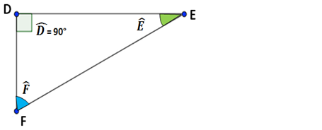 mesure angle égal à 90° triangle rectangle